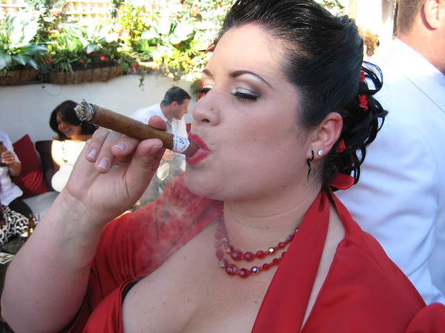 Bride and her stoggie