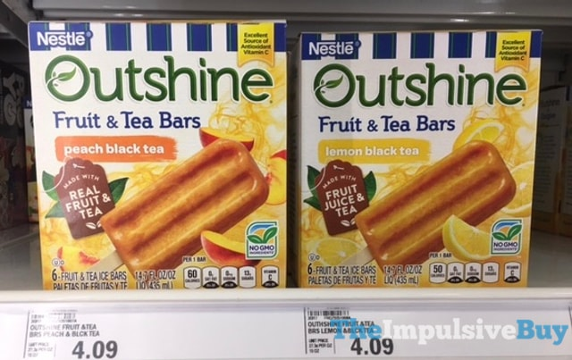 Nestle Outshine Fruit & Tea Bars (Peach Black Tea and Lemon Black Tea)