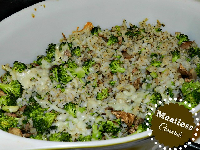 Broccoli, Mushroom & Rice Casserole (5)