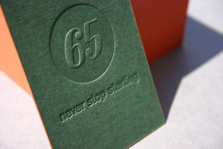 First 65 Letterpress Business Cards