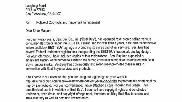 Best Buy Apologies For Sending Cease & Desist Letter