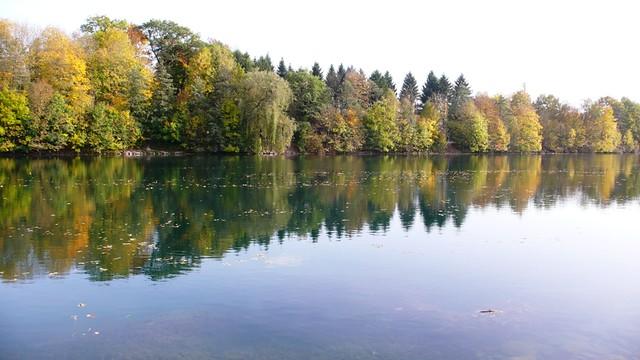 Along the river Aare by Zuchwil taken from Feldbrunnen