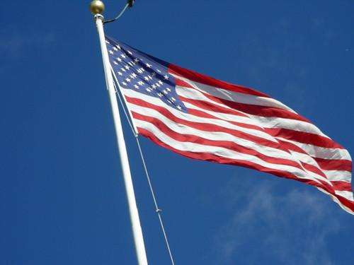 American Flag at Robert E. Lee's House