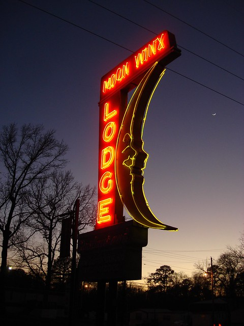 Moon Winx Motel Sign, Alberta City AL