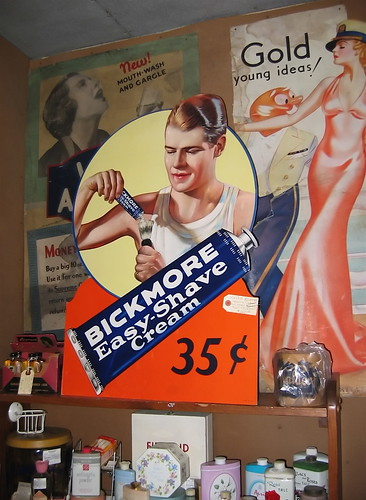 "Fab vintage ads at ""Lost In The 50s"", Ohio."