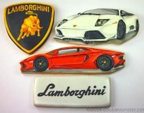 Lamgorghini custom cookies