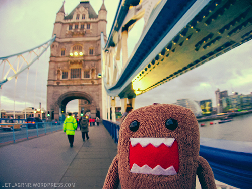 domokun on tower bridge