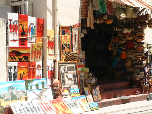 Shop front in Mombasa old town