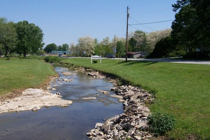 Creek along the road