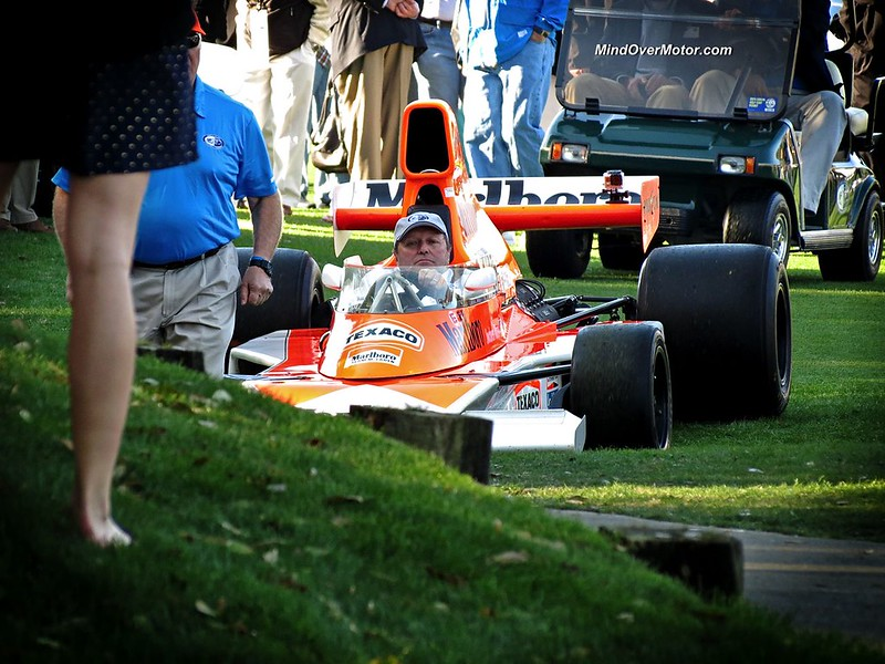 Jochen Mass in his former McLaren F1 car
