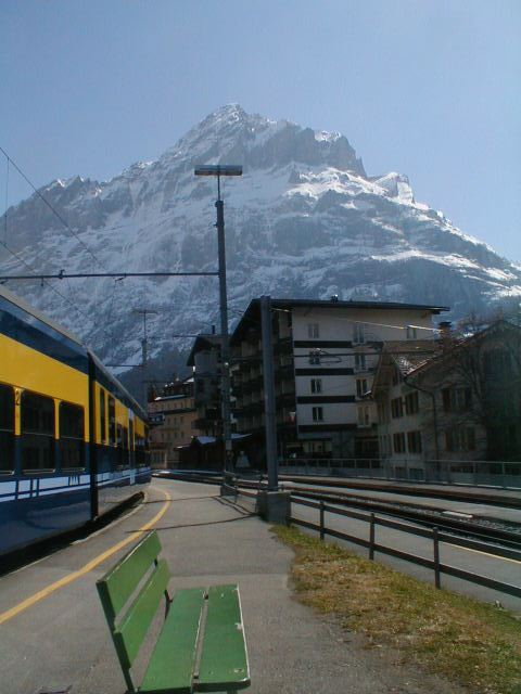 Train in the Alps