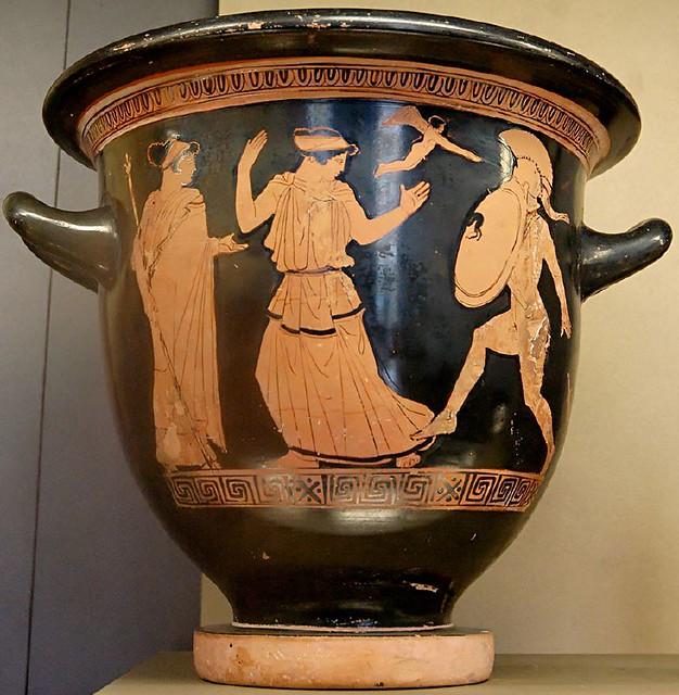 Image result for ancient greek vase helen death