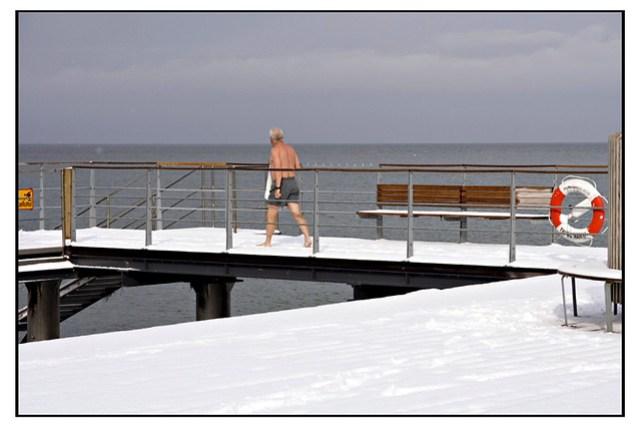 A cold swim