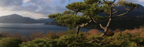 Hakone Lake Panoramic (Mt Fuji in Background)