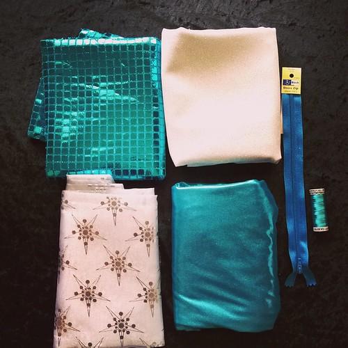 Fabrics For the Queen Elsa Costume