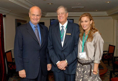 Fred with David and Julia Koch