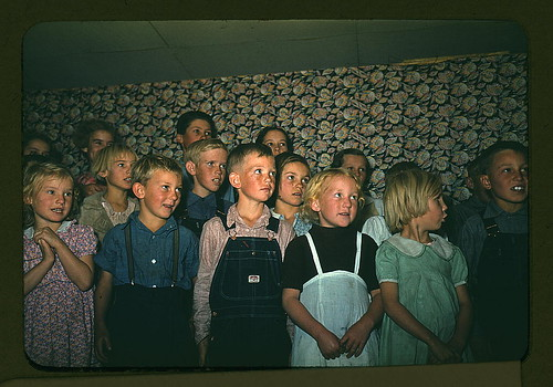 School children singing, Pie Town, New Mexico  (LOC) by The Library of Congress