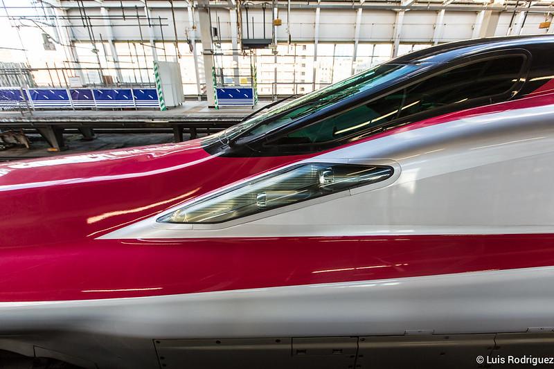 Detalle del shinkansen de la serie E6