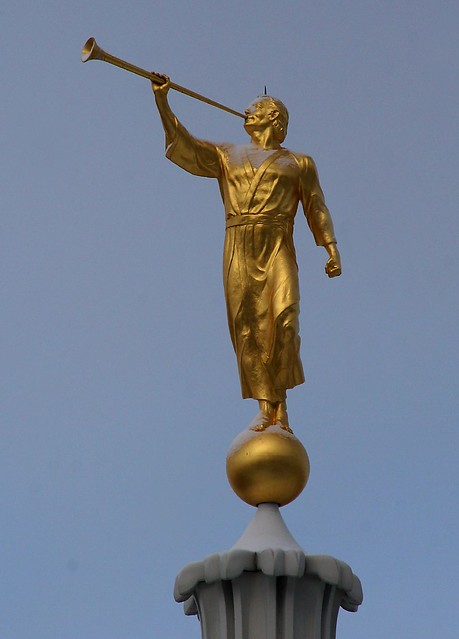 Angel Moroni Faces East
