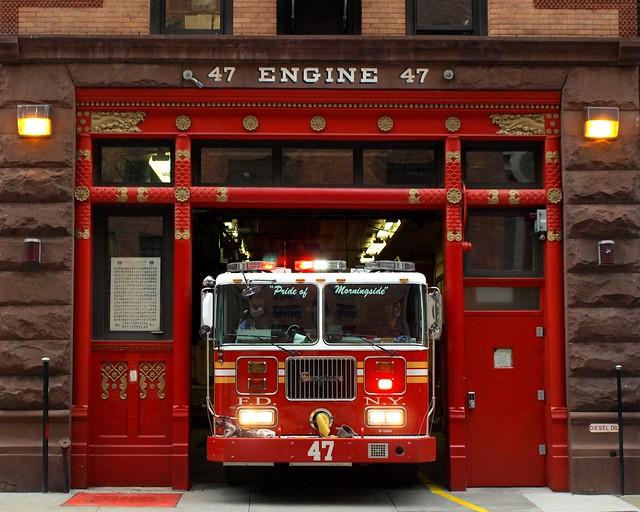 E047 Fdny Firehouse Engine 47 Morningside Heights New