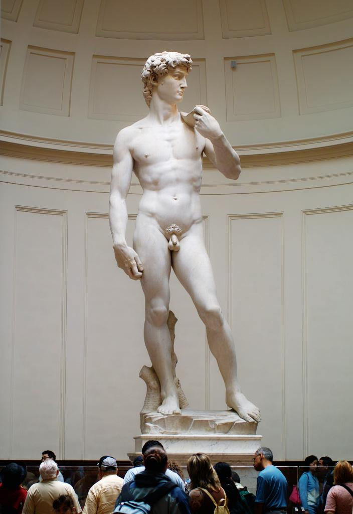 Michaelangelo's David in the Accademia by PurpleGecko on Flickr