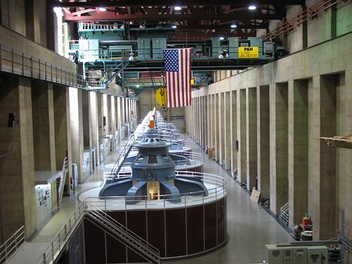 Generators inside the dam