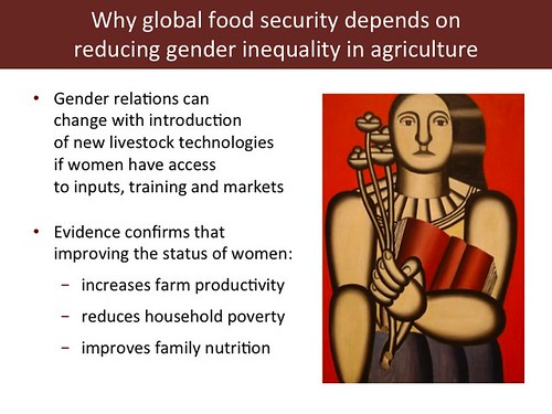 Slide 10: 'Women and Livestock', 7 Mar 2014