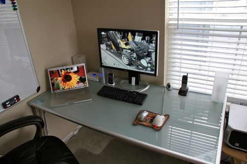 New desk in home office
