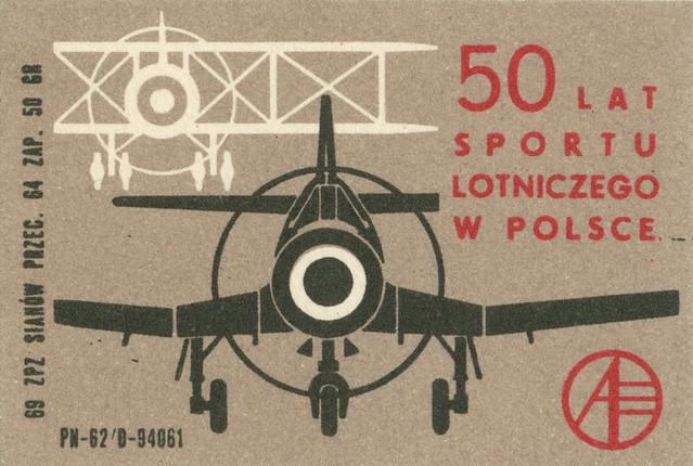 polish matchbox label
