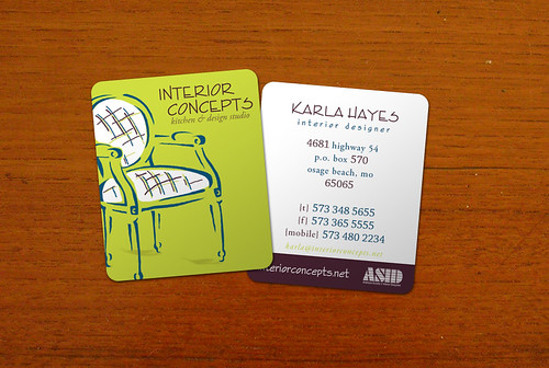 Interior Concepts business card design
