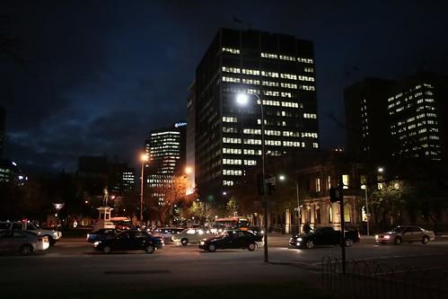 Peak Hour Traffic in the Adelaide CBD
