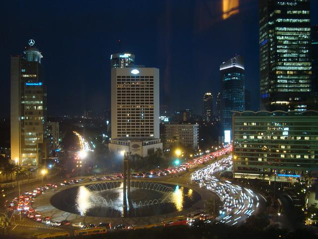Late Traffic in Jakarta