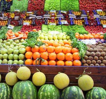 Fruit & vegetable basket from Flickr via Wylio