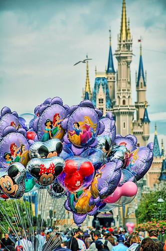 Disney - Main Street Balloons & Cinderella Castle (Explored)