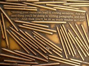 Henry David Thoreau quote - Library Way - NY City - Kathleen Tyler Conklin