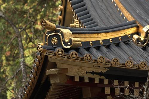 Toshogu Shrine Roof, Nikko