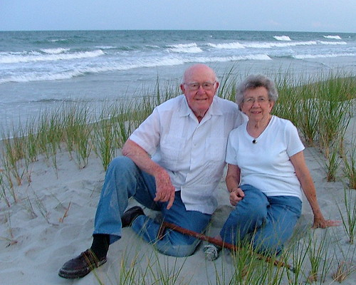 Mom and Dad at the beach