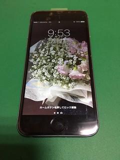 272_iPhone6のフロントパネルガラス割れ