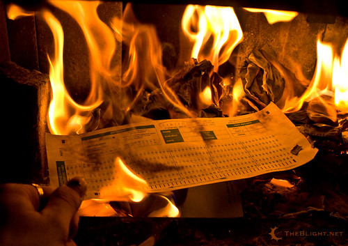 Burning a Scantron form
