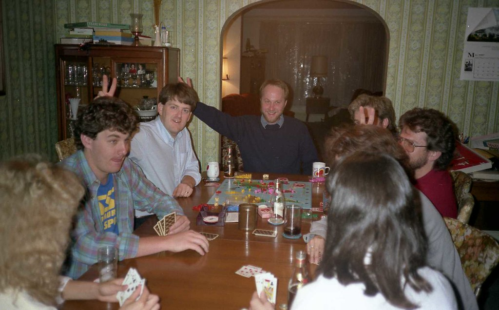 1987 Games at Mom's with Bob, Karl, Hugh and others  177