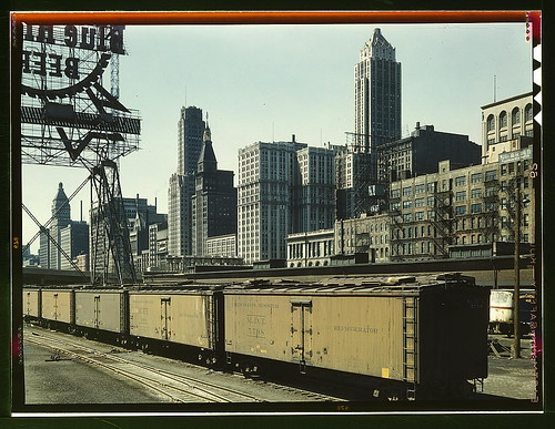 General view of part of the South Water street Illinois Central Railroad freight terminal, Chicago, Ill. (LOC)