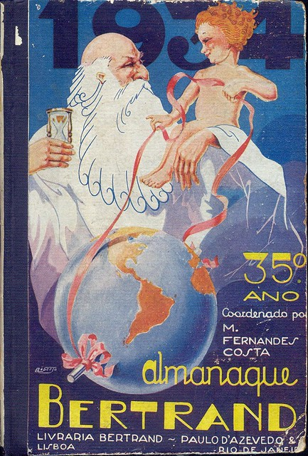 Almanaque Bertrand, 1934 - cover Roberto