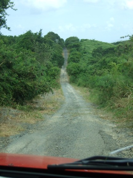 Puerto Rico driving, treacherous road