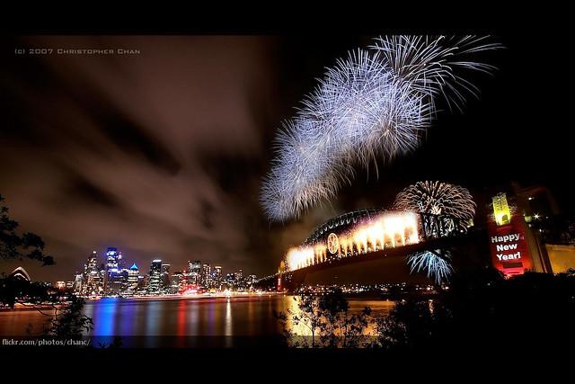 Sydney New Years Eve Fireworks 2007