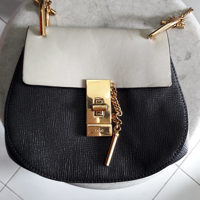 fake Chloe Drew shoulder chain bag