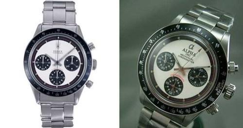 Rolex Paul Newman and Alpha Paul Newman comparison