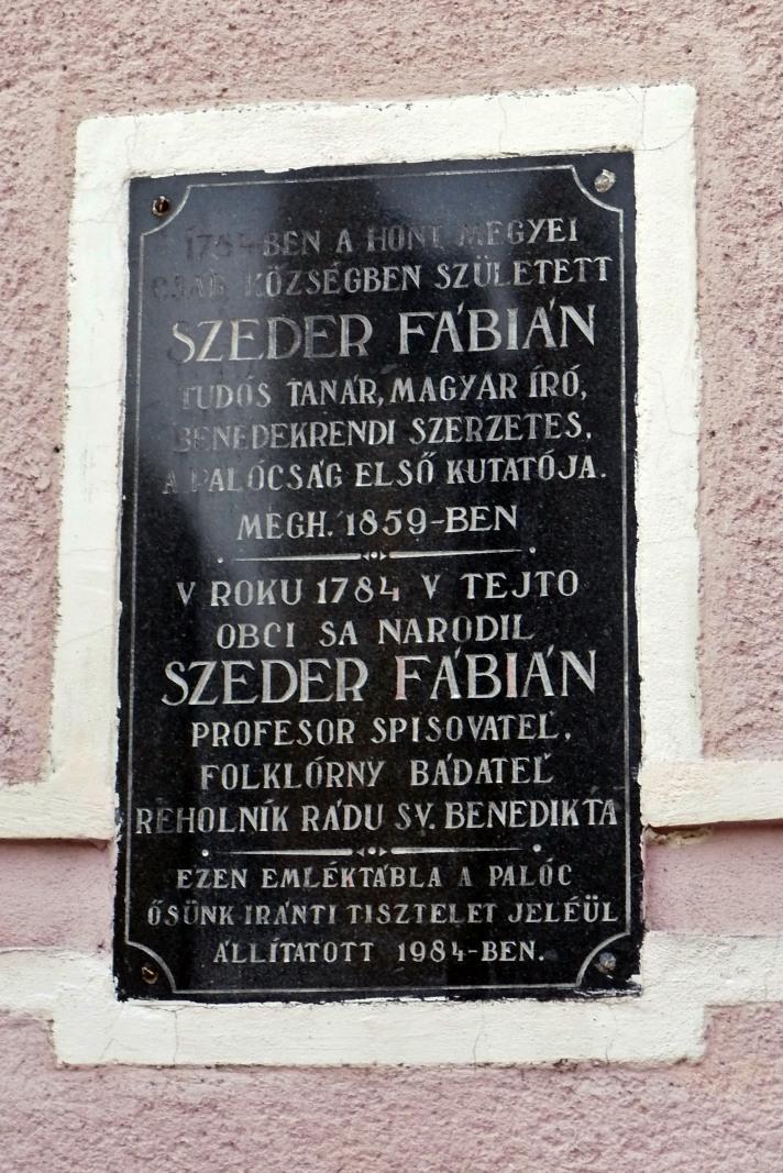 Pamätná tabuľa F. Szederovi