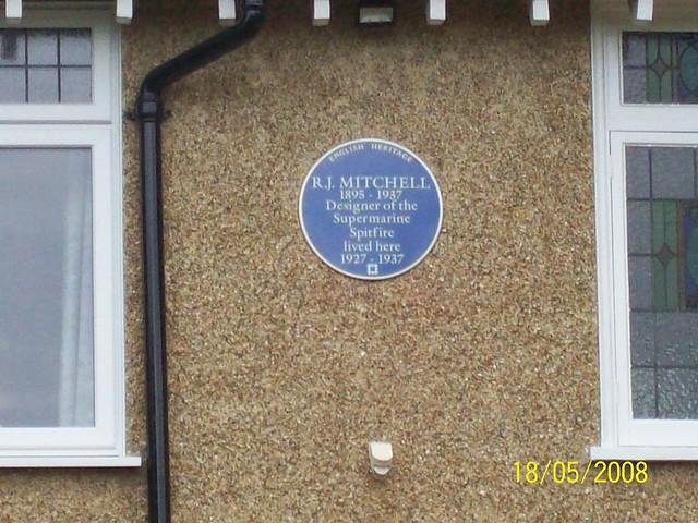 Reginald Mitchell Blue Plaque Open Plaques