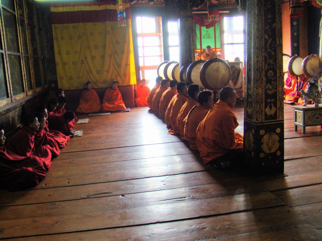 Bhutan Monasterio de Kurjey - Kurjey Lhakang valle de Bumthang 11