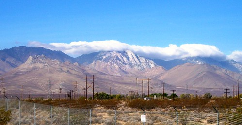 Clouds rolling over the edge of the Sierra Mountains at Inyokern, CA - randsburg41